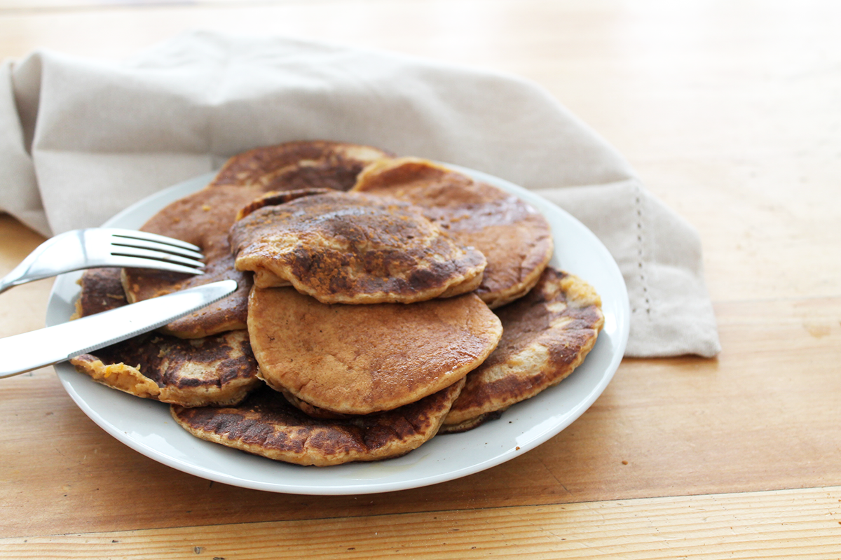 pancakes patate douce vegan